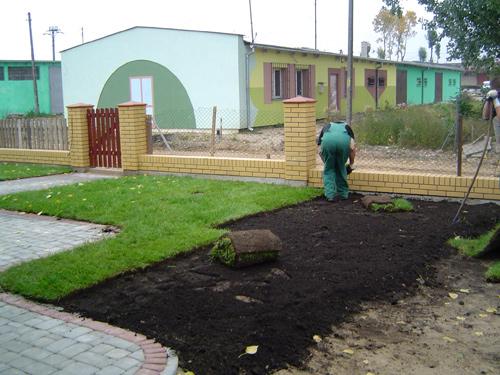 Zakładanie trawników przez przenoszenie darni, czyli darniowanie (trawa z rolki)